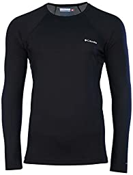 Columbia Men\'s Midweight Long Sleeve Base Layer Top-Black-Medium