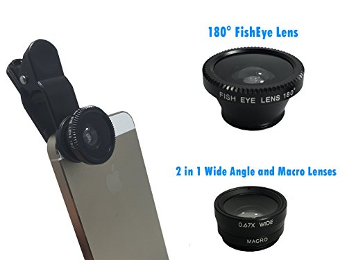 3-in-1-Clip-On-PhoneTablet-Camera-Lenses-Fish-Eye-Wide-Angle-Macro-Works-on-Popular-Cell-Phones-Tablets-incl-iPhone-Samsung-HTC-LG-etc-Colors-May-Vary