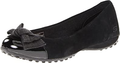 Skechers Women's Liberties Bowery Flat,Black,8.5 M US