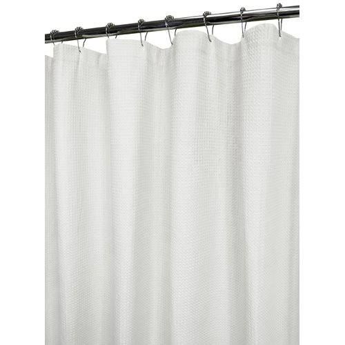 Ultra Spa By Park B. Smith White 6 Ft. X 6 Ft. Baby Waffle Shower Curtain
