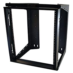 C2G / Cables To Go 16128 APW  12U Swing Out WallMount Rack, Black