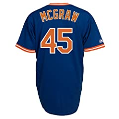 Tug McGraw New York Mets Replica Cooperstown Jersey by Majestic by Majestic