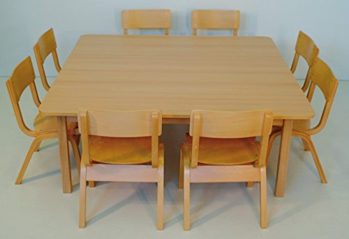 """Tisch Standard """"Happy Maggi"""" – 120 x 120 cm, buche – variable Höhe"""