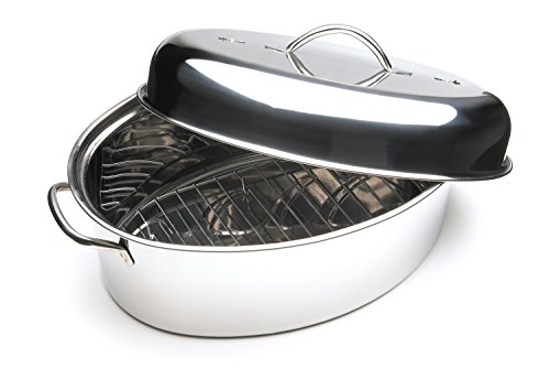 Fox Run 10-Quart Stainless Steel Oval Roaster Set