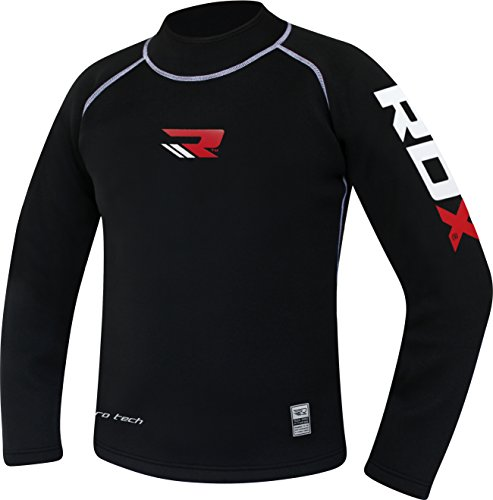 RDX Neoprene MMA Compression Base Layer Rash Guard Thermal Sauna Suit Shirt Top Sweatshirts