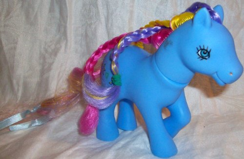 Buy Low Price Mattel 5″ My Little Pony, Purple Blue with Real Hair Doll Figure Toy, Great for Replacement (B003TAO16M)