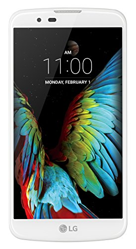 "LG K10 Smartphone, Display IPS 5.3"" HD, 4G LTE, Fotocamera 13MP con frontale 5MP, Memoria interna 16 GB, 1.5 GB RAM, Bianco [Italia]"