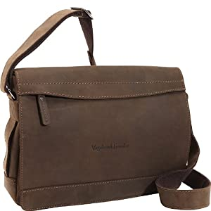"Vagabond Traveler 14"" Large Leather Messenger Laptop Bag L18 from Vagabond Traveler"