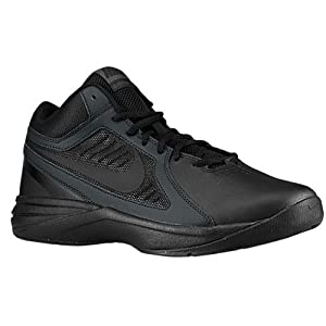 Nike Men's The Overplay VIII Black/Black/Anthracite Basketball Shoe 10 Men US
