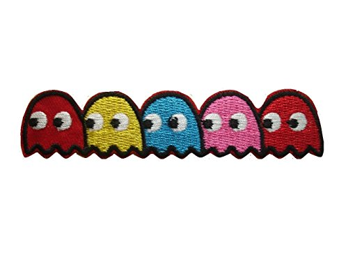 Review Of Pac-man ghosts Blinky Pinky Inky Clyde Embroidered Iron On / Sew On Patch - Pac-man
