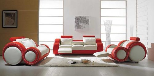 Where to buy Vig Furniture T 27 - Contemporary White And Red ...