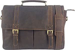 Unicorn Real Leather 164 Laptop Bag Messenger Briefcase Brown 2j
