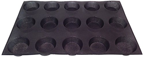 Sasa Demarle SF 01034 Silform Muffin Pan, 15 Cavities, 26