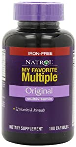Natrol My Favorite Multiple Iron-Free Multivitamin Capsules, 180-Count