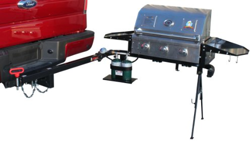 Party King Grills PKG-MVP-5412 SWING'N Smoke Grill Package, Includes Stainless Steel MVP Grill and Standard Swing Arm (Tailgate Grill Hitch compare prices)
