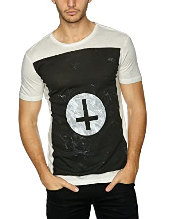 Sinstar Cross Circle Crew Printed Men's T-Shirt Mist Grey X-Large