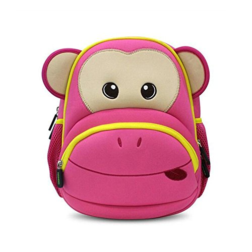 d27a64331c36 ... BINGONE NOHOO Kids Shoulder Bag 5D Cartoon Zoo Animal Pink Monkey