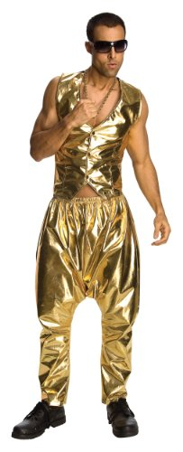MC Hammer Lame Pants, Gold with low crotch. Tell the ladies U Can't touch this!