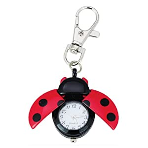 Absolute Fancy Ladybug Vintage Quartz Animal Keychain Pendant gift
