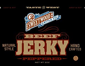 Sweetwood Jerky Peppered Flavor, 2-Ounce-Bag Multipack by Sweetwood Jerky Co.