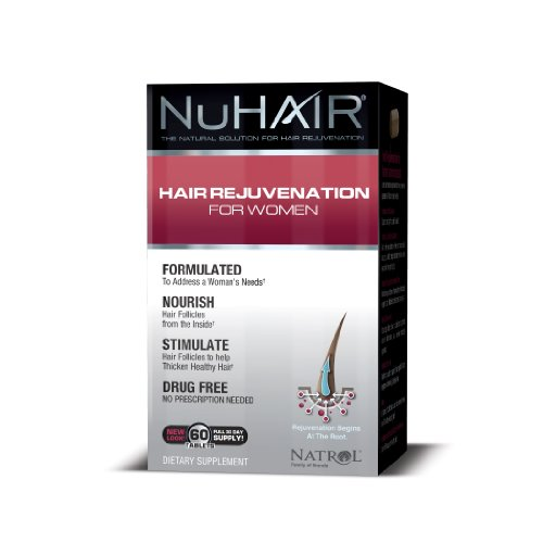 Nuhair Hair Regrowth Tablets, For Women, 60 Tablets
