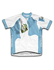Guatemala Flag Short Sleeve Cycling Jersey for Women