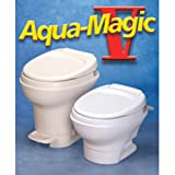 Thetford 31647 Aqua Magic V Parchment Low Hand Flush