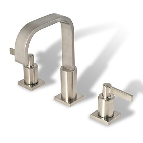 Decor Star WPC01-TB Contemporary Bathroom Vanity Sink Widespread Lavatory Faucet cUPC NSF AB 1953 Lead Free Brushed Nickel (Brushed Nickel Faucet compare prices)