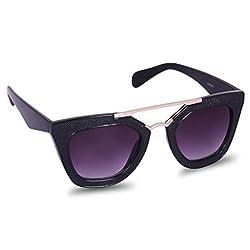 XLNC Stylish Black Cateye Sunglasses for Women