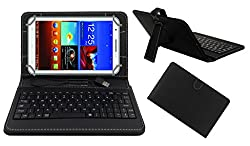 Acm Premium Usb Keyboard Tablet Case Holder Cover For Byond P3 With Free Micro Usb Otg - Black