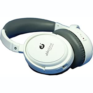 ABLE PLANET NC300W True Fidelity Around-the-Ear Active Noise Canceling Headphones (White) (Discontinued by Manufacturer)
