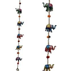 Little India Handcrafted Rajasthani Door Hanging Elephant