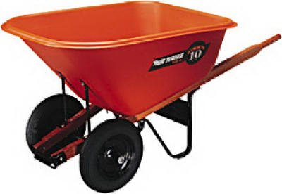 Ames Companies The BP10 Polyethelyne Wheelbarrow, 10-Cu. Ft. - Quantity 10 (Wheelbarrow 10 Cubic Feet compare prices)