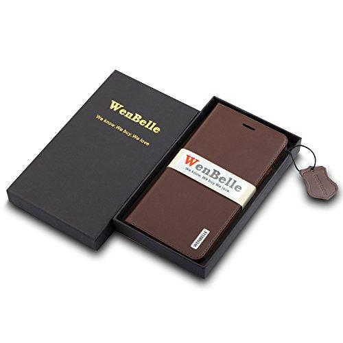 Leather Wallet Case Wenbelle Flower Umbrella Series Slim Fitstand