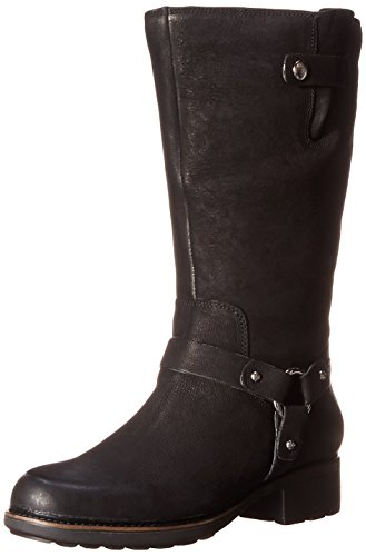 Rockport Women's First Street MT Motorcycle Boot,Black Burnished Wide Calf,9 M US (Street Motor Cycle Boots compare prices)