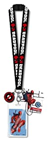 Marvel Deadpool Lanyard with PVC Dangle