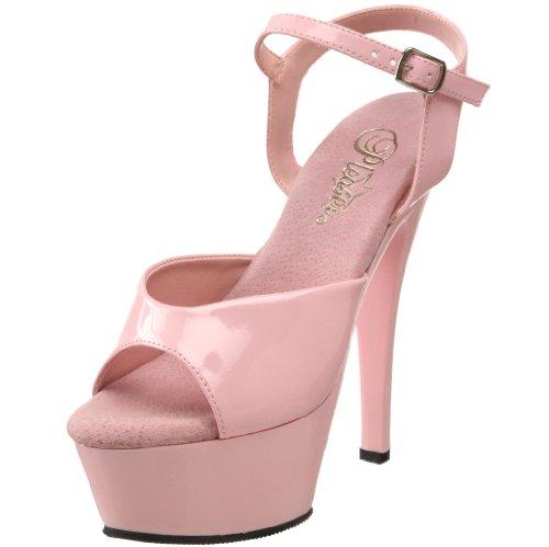 Pleaser Women's KISS-209/BP/M Platform Sandal,Baby Pink Patent,13 M US
