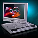 "12.3"" Multi Region Portable DVD Player Swivel Screen With DVB-T Digital Freeview TV & Recorder Plus Analog TV, 300 Games, Rechargable Battery With Car Charger All In Oneby Digizo"