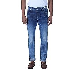 Lawman Men's Skinny Jeans (8907201896871_PG3 KMN-1535AST SKFT GRNGBL_34W x 34L_Blue)