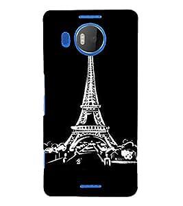 PrintVisa Travel Paris Art 3D Hard Polycarbonate Designer Back Case Cover for Nokia Lumia 950 XL