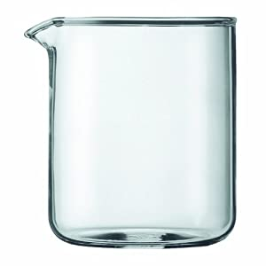 Bodum Spare Glass Carafe for French Press Coffee Maker, 4-Cup, 0.5-Liter, 17-Ounce by Bodum