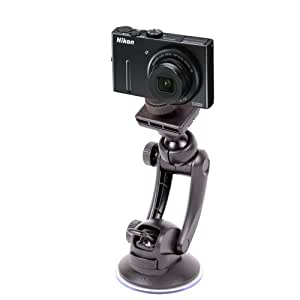 Strong & Durable Window Suction Mount For Nikon COOLPIX P300, S9100, S3100 & L23, By DURAGADGET