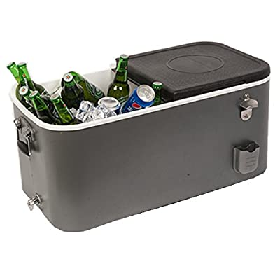 HIO 60 Qt Outdoor Patio Cooler, Cooler Lunch Box, Grey