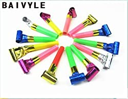 Baivyle 100 Pcs Funny Blowers Party Birthday/ Party Supplies / Party Favors / Party Blowers/Squawkers