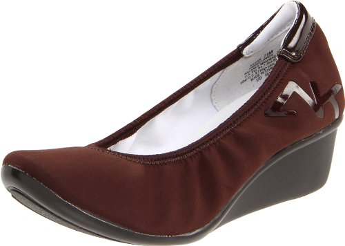 AK Anne Klein Women's Dax Wedge Pump,Dark Brown Multi Fabric,9 M US