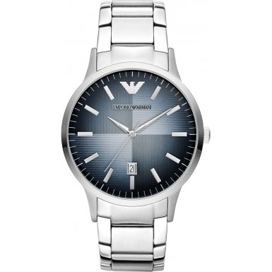 Emporio Armani AR2472 - Reloj de pulsera Hombre, Acero inoxidable, color Plata