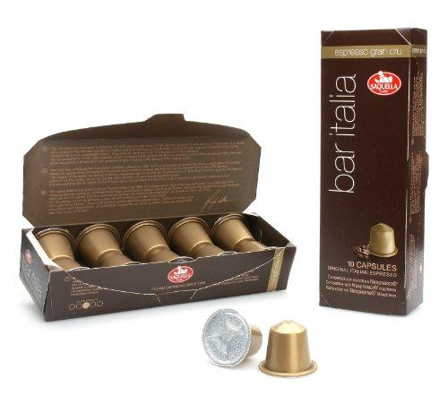 Buy Bar Italia Espresso Gran Cru (Nespresso compatible) capsules from Saquella