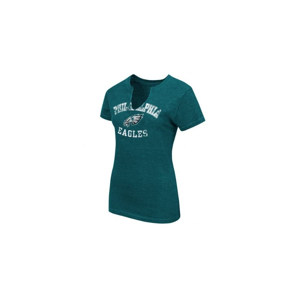cheaper 63c80 b2c7d Philadelphia Eagles Womens Retro Vintage T Shirt