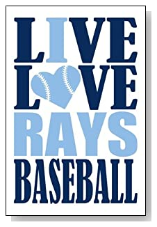 Live Love I Heart Rays Baseball lined journal - any occasion gift idea for Tampa Bay Rays fans from WriteDrawDesign.com