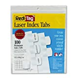 Redi-Tag-Printable-Laser-Index-Tabs-1.125-Inches-White-100-per-Pack-33117